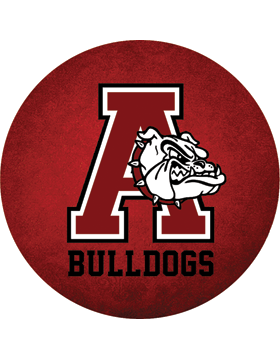 Anniston Bulldogs Magnet 4.5