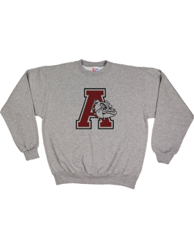 Anniston Bulldogs Medium Weight Fleece Crew Sweatshirt S2401-A