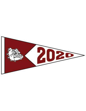 Anniston with Year Customizable Alumni Pennant Sticker