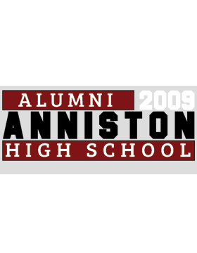 Anniston with Year Customizable Alumni Bumper Sticker