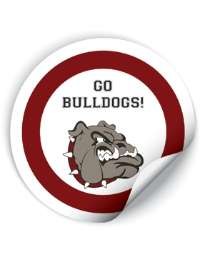 Anniston Bulldogs Round Sticker