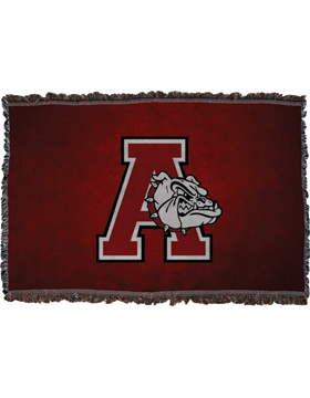 Anniston Bulldogs Throw Blanket, Large 38