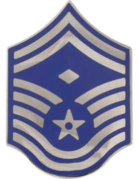 Air Force No Shine Rank Senior Master Sergeant with Diamond