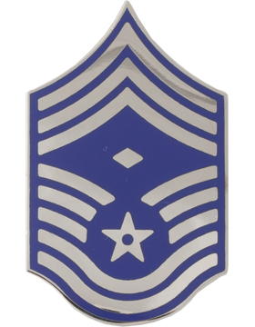 Air Force No Shine Rank Chief Master Sergeant with Diamond