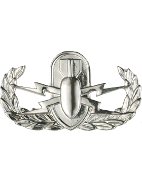 Air Force Badge No Shine Full Size Explosive Ordnance Disposal (EOD)