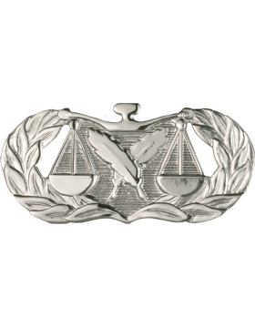 Air Force Badge No Shine Full Size Paralegal