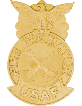 USAF Station Chief(AF-812/F) Large Joint Back Two Bugle(Crossed) All Gold
