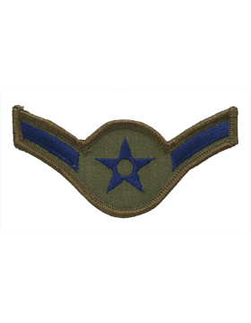 USAF Chevron (AF-C101/L) Airman Subdued Large (Pair)