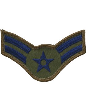 USAF Chevron (AF-C202/S) Airman First Class Subdued Small (Pair)