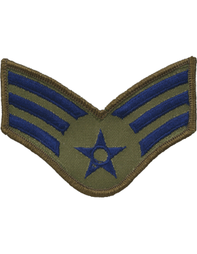 USAF Chevron (AF-C203/S) Senior Airman Subdued Small (Pair)