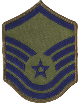 Air Force Chevron Subdued (Pair) Master Sergeant