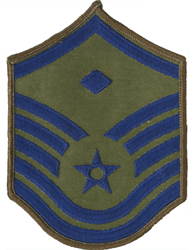 USAF Chevron (AF-C107/L) Master Sergeant with Diamond Subdued Large (Pair)