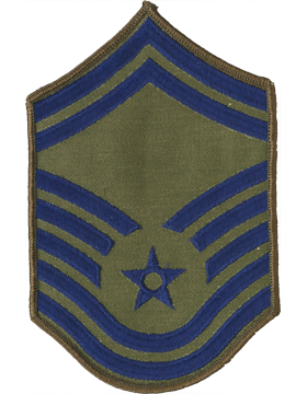 Air Force Chevron Subdued (Pair) Senior Master Sergeant