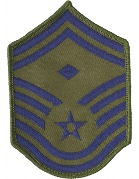 USAF Chevron (AF-C109/L) Senior Master Sergeant with Diamond Subdued Large (Pair