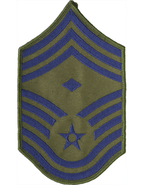 USAF Chevron (AF-C111/L) Chief Master Sergeant with Diamond Subdued Large (Pair)