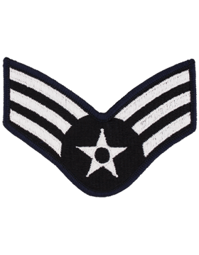 USAF Chevron (AF-C303/L) Senior Airman Blue and Silver Large (Pair)
