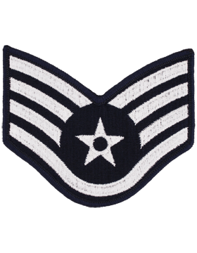 USAF Chevron (AF-C304/L) Staff Sergeant Blue and Silver Large (Pair)