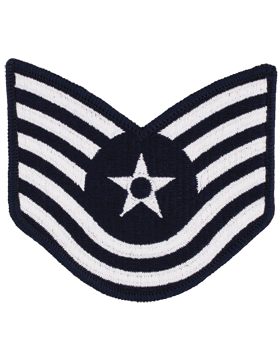 Air Force Chevron Blue and Silver (Pair) Technical Sergeant