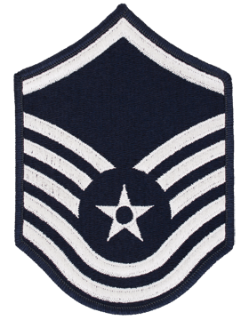 Air Force Chevron Blue and Silver (Pair) Master Sergeant