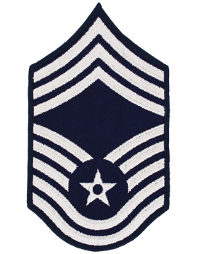 Air Force Chevron Blue and Silver (Pair) Chief Master Sergeant