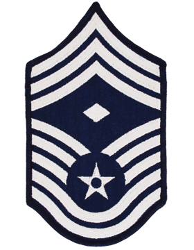 Air Force Chevron Blue and Silver (Pair) Chief Master Sergeant with Diamond