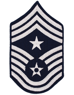 Air Force Chevron Blue and Silver (Pair) Command Chief Master Sergeant