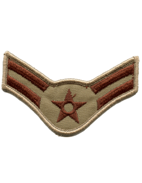 USAF Chevron (AF-C502/L) Airman First Class Desert Large (Pair)