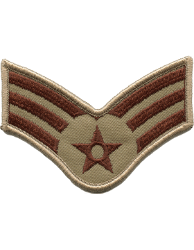 USAF Chevron (AF-C503/L) Senior Airman Desert Large (Pair)