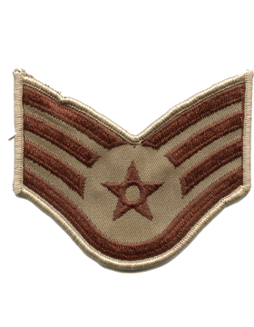 Air Force Chevron Desert (Pair) Staff Sergeant