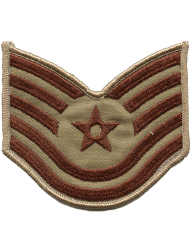 USAF Chevron (AF-C605/S) Technical Sergeant Desert Small (Pair)