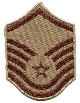 Air Force Chevron Desert (Pair) Master Sergeant