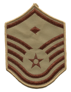 USAF Chevron (AF-C607/S) Master Sergeant with Diamond Desert Small (Pair)