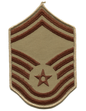 Air Force Chevron Desert (Pair) Senior Master Sergeant