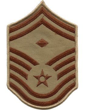USAF Chevron (AF-C509/L) Senior Master Sergeant with Diamond Desert Large (Pair)