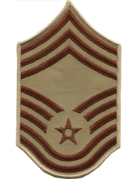 USAF Chevron (AF-C610/S) Chief Master Sergeant Desert Small (Pair)