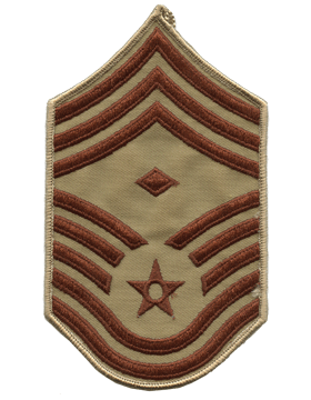 USAF Chevron (AF-C511/L) Chief Master Sergeant with Diamond Desert Large (Pair)