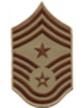 USAF Chevron (AF-C512/L) Command Chief Master Sergeant Desert Large (Pair)