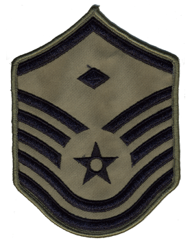USAF Chevron (AF-C707/L) Master Sergeant with Diamond ABU Large (Pair)