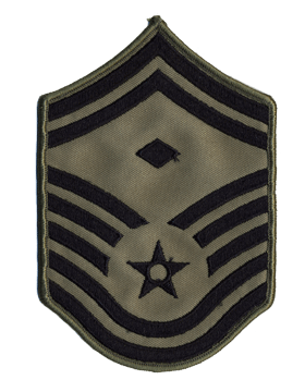 USAF Chevron (AF-C709/L) Senior Master Sergeant with Diamond ABU Large (Pair)