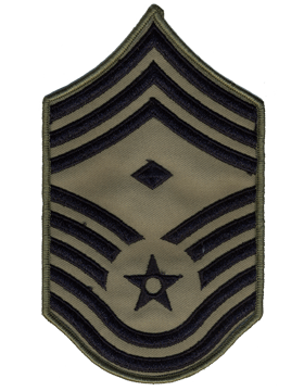 USAF Chevron (AF-C711/L) Chief Master Sergeant with Diamond ABU Large (Pair)