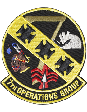 7th Operation Group Full Color Patch with Fastener (Dyess AFB)