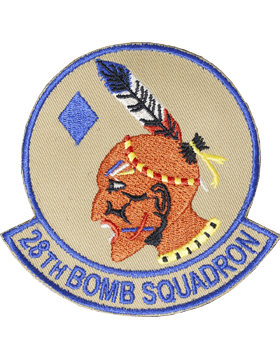 28th Bomb Squadron Full Color Patch with Fastener (Dyess AFB)