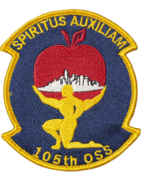 105th OSS Full Color Patch with Fastener (Spiritus Auxiliam)