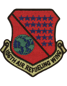 186th Air Refueling Wing Subdued Patch (MS ANG)