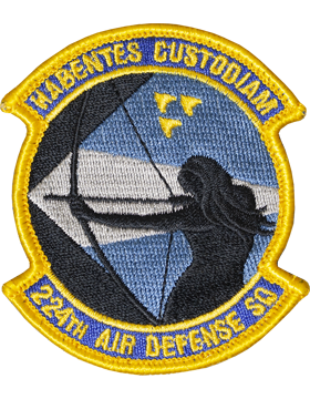 224th Air Defense Squadron Full Color Patch with Fastener