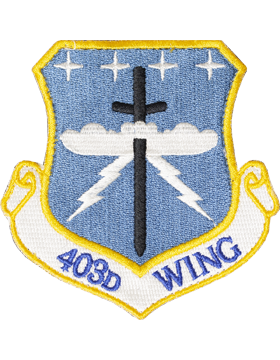 403rd Wing Full Color PATCH with Fastener (Keesler AFB)