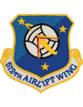 512th Airlift Wing Full Color Patch (Reserve) (Dover AFB)