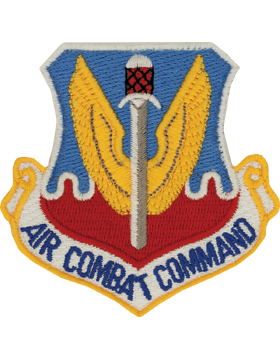 USAF Patch (AF-P01B) Air Combat Command Full Color with Fastener