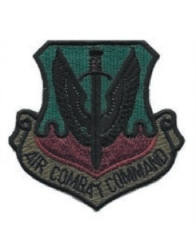 USAF Patch (AF-P01C) Air Combat Command Subdued sew on