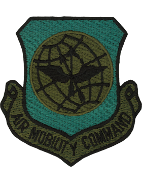 USAF Air Mobility Command Subdued Patch with Fastener